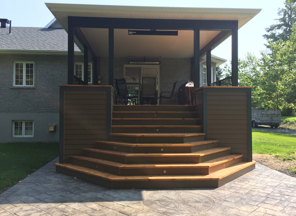 Terrasse couverte - Projet 1 - Construction Martin Leblanc
