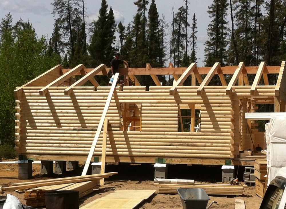 chalets pi ces sur pi ces et bois rond projet 3 construction martin leblanc. Black Bedroom Furniture Sets. Home Design Ideas